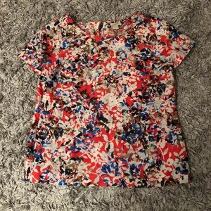 J. Crew Factory boxy floral short sleeve blouse